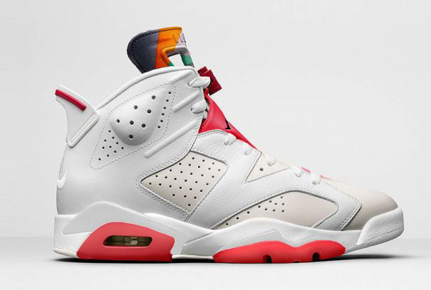 "Air Jordan 6 ""HARE"" Shoes Grey/White red black"